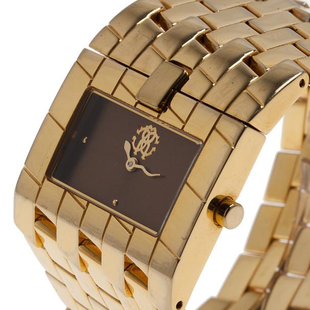 Roberto Cavalli Brown Stainless Steel Cleavage Women's Wristwatch 35MM