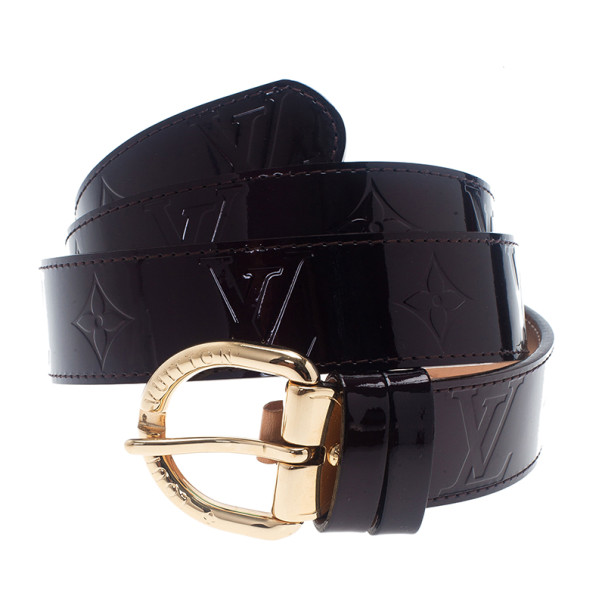 Louis Vuitton Amarante Monogram Vernis Belt 90CM