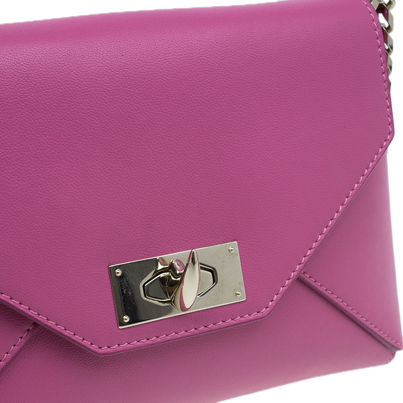 Givenchy Pink Leather Medium Shark Corssbody Bag