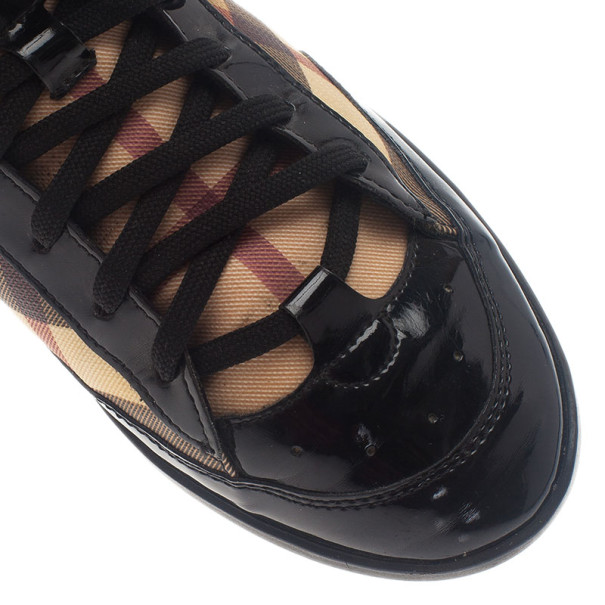 Burberry Novacheck Canvas and Leather Sneakers Size 38