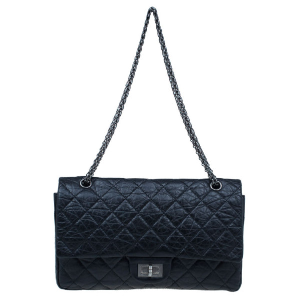 Chanel Black Quilted Calfskin Reissue 2.55 Large Flap