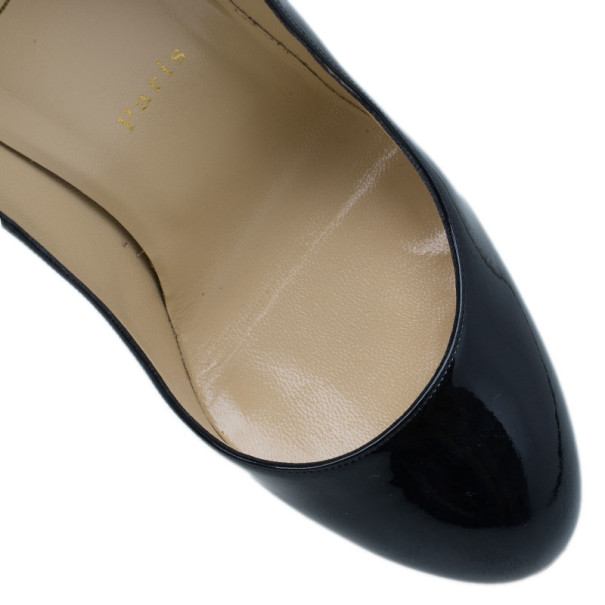 Christian Louboutin Black Patent Fifi Pumps Size 38.5