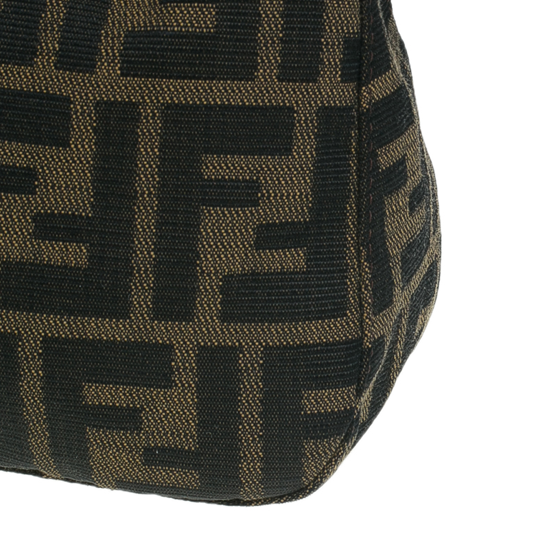 Fendi Brown Zucca Canvas Small Shoulder Bag