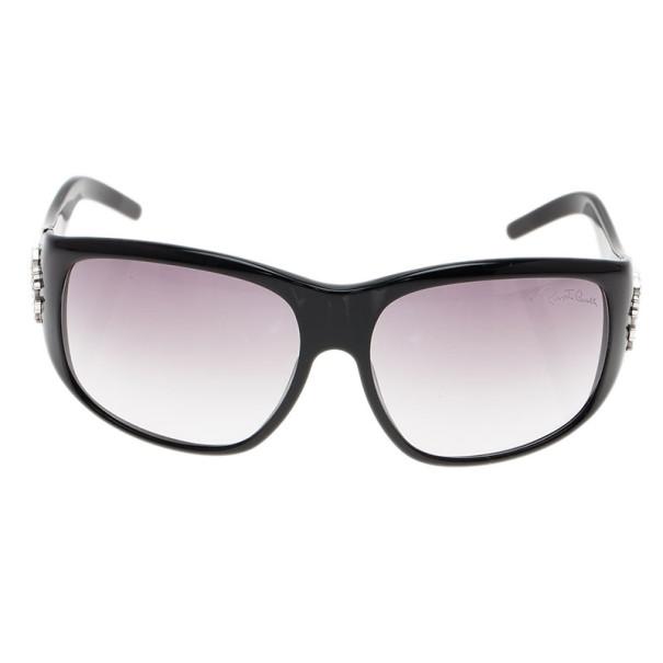 Roberto Cavalli Black Apsirto Crystal Logo Sunglasses