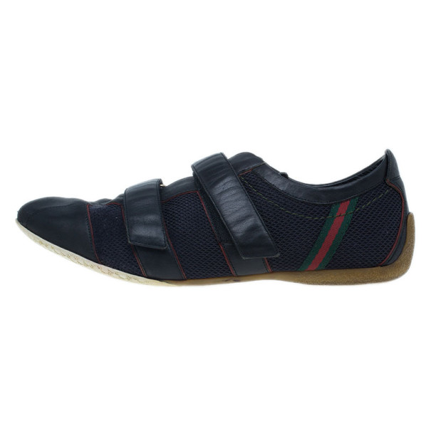 Gucci Black Mesh Velcro Sneakers Size 43.5