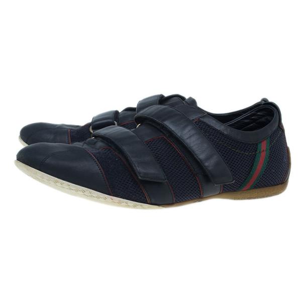 Gucci Black Mesh Velcro Sneakers Size 43.5