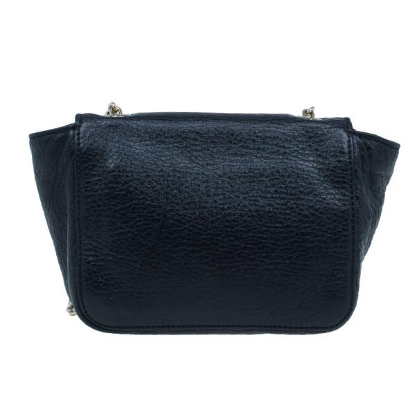 Chloé Black Leather Mini Lily Crossbody