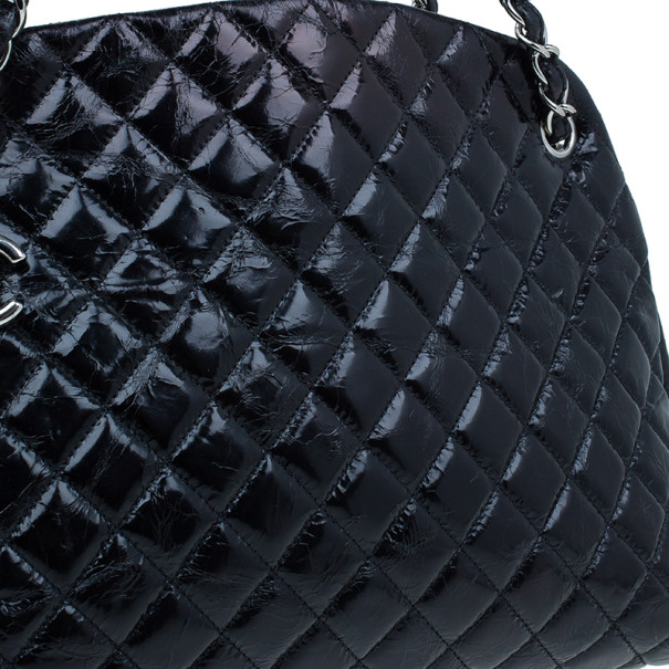 Chanel Black Calfskin Large Quilted Mademoiselle Bag