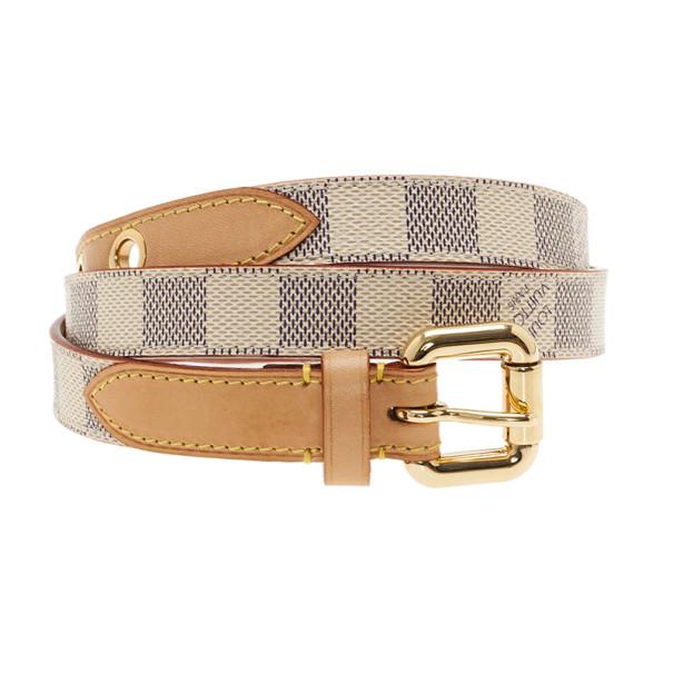 Louis Vuitton Damier Azur Skinny Belt 90CM