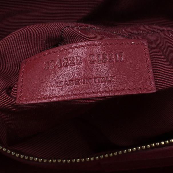 Saint Laurent Paris Red Leather Small Sac De Jour Tote