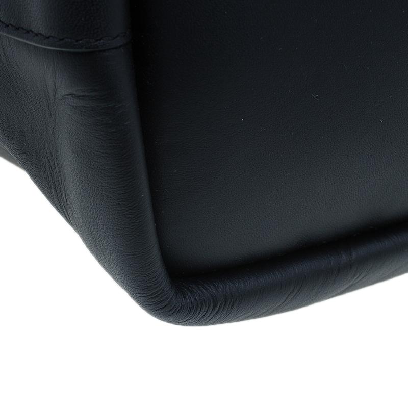 Chloe Black Leather Medium Baylee Tote Bag