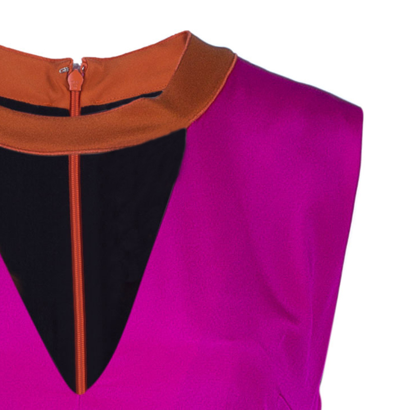 Roksanda Ilincic Layne Fuschia Silk Evening Gown M