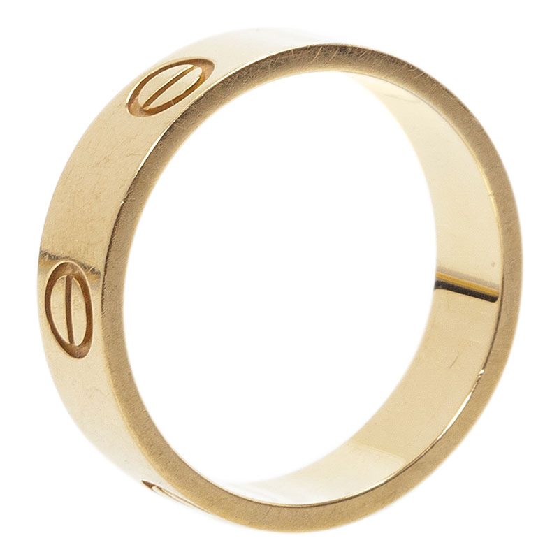 Cartier Love Yellow Gold Band Ring  Size 56