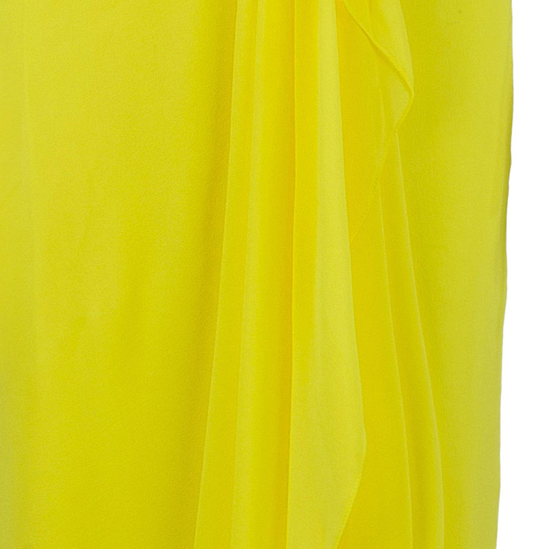 Notte by Marchesa Strapless Silk Chiffon Gown XS
