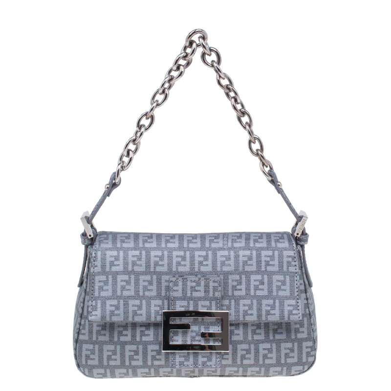 Fendi Grey Zucchino Mini Mama Chain bag