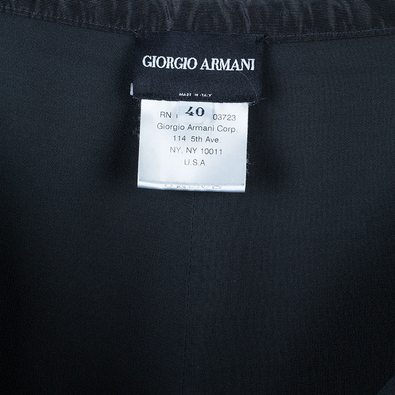 Giorgio Armani Black Linen Pants S
