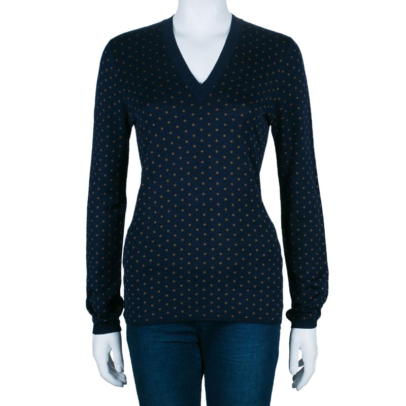 Burberry Polka Dot Knit Sweater M