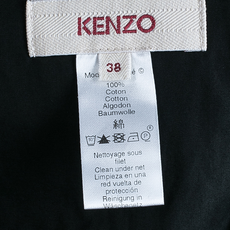 Kenzo Black Gathered Maxi Skirt M
