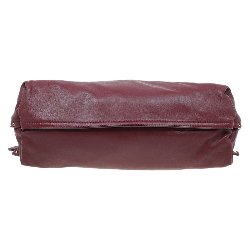 Marc Jacobs Burgundy Leather Rio Paradise Satchel Bag