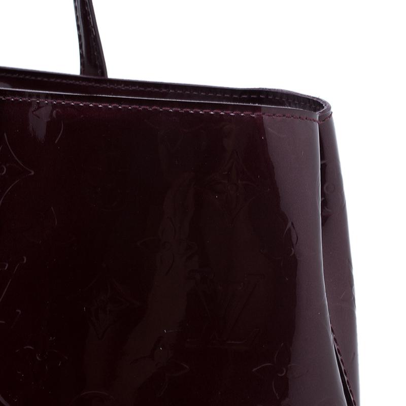 Louis Vuitton Amarante Monogram Vernis Wilshire Tote MM