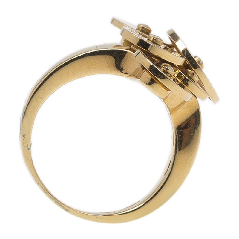 Bvlgari Cicladi Yellow Gold Ring Size 50.5