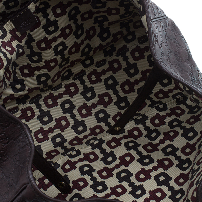Gucci Brown Monogram Leather Large Princy Tote