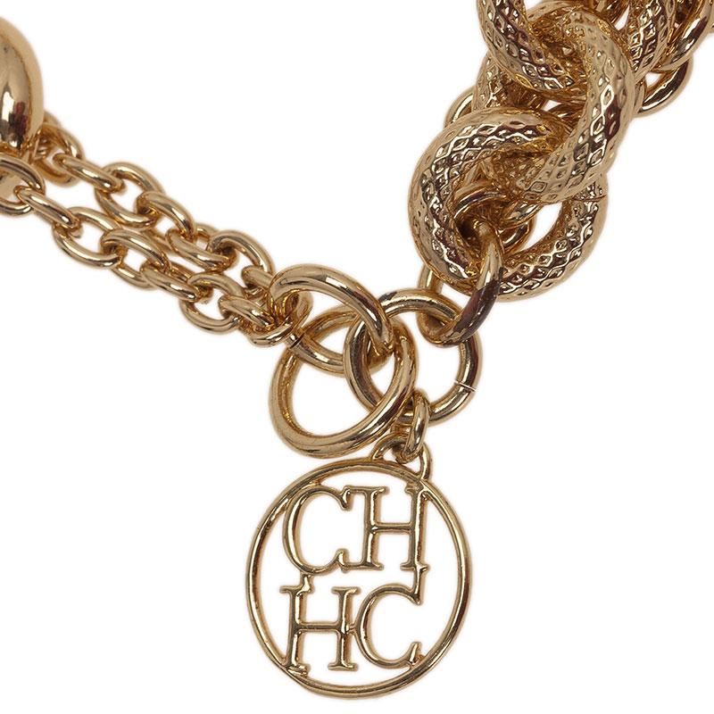 Carolina Herrera CH Multi Chain Gold Tone Bracelet