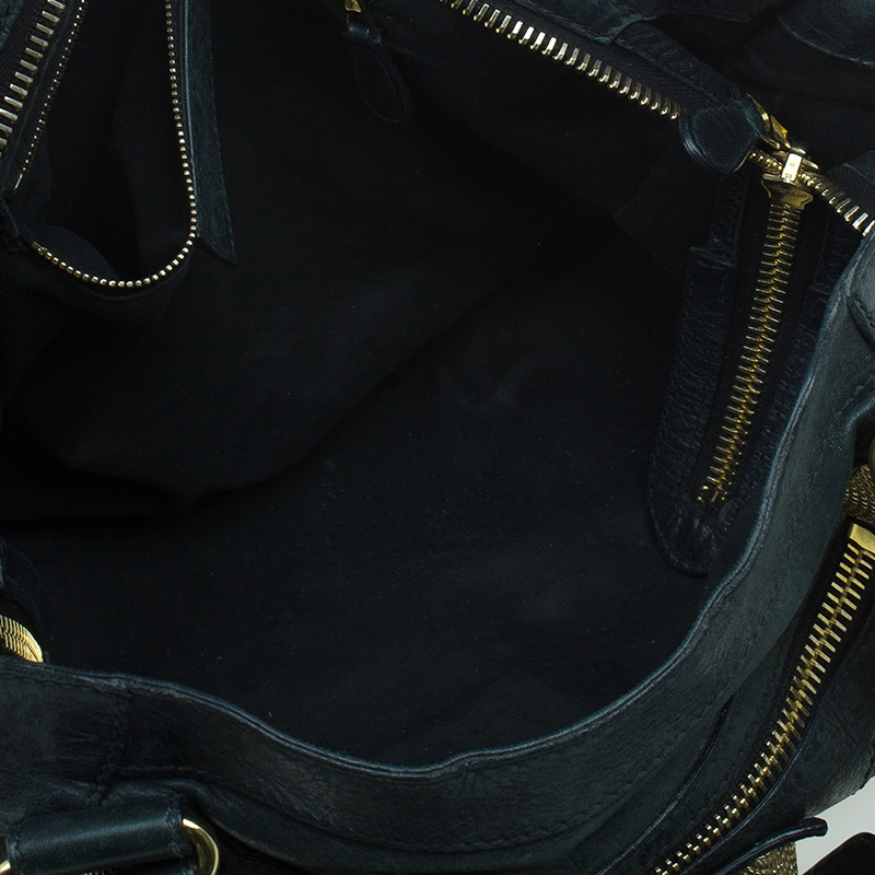 Balenciaga Dark Green Lambskin Giant City Bag