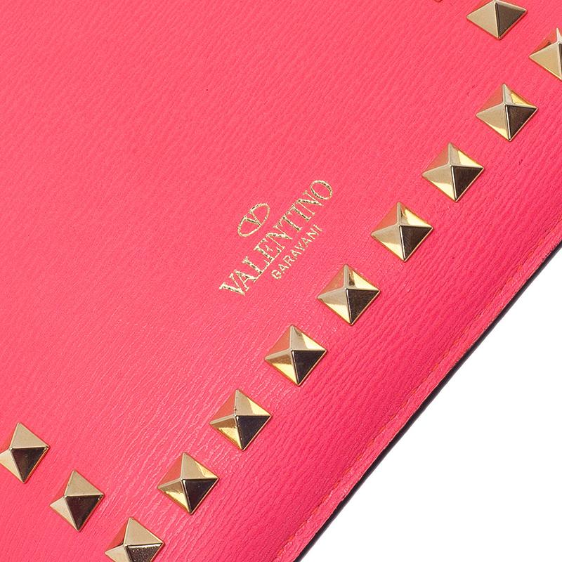 Valentino Neon Pink Leather Rockstud iPad Mini Case