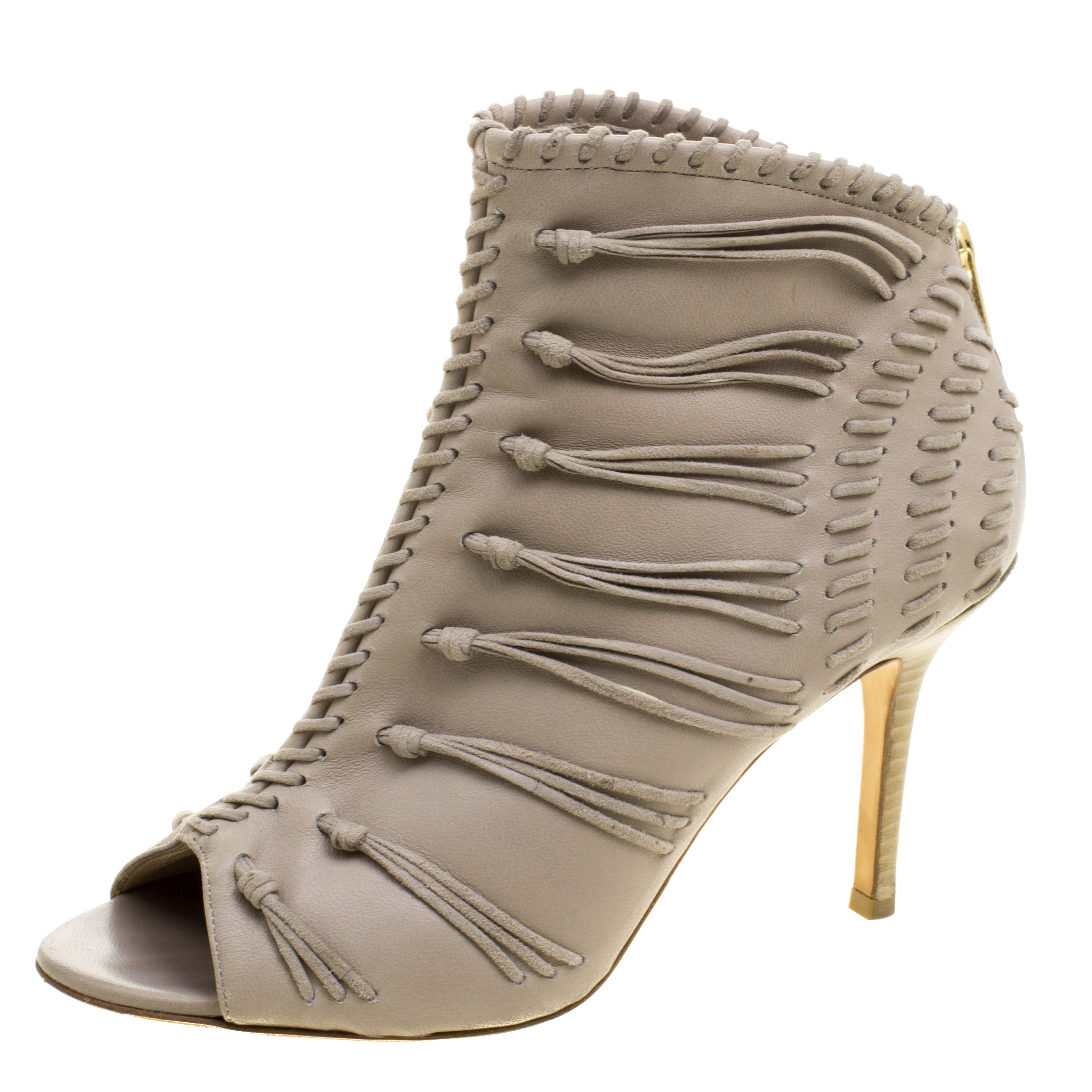 a6d05251c5f1 ... order jimmy choo grey leather and suede gana ankle booties size 38 buy  9adc7 9264a