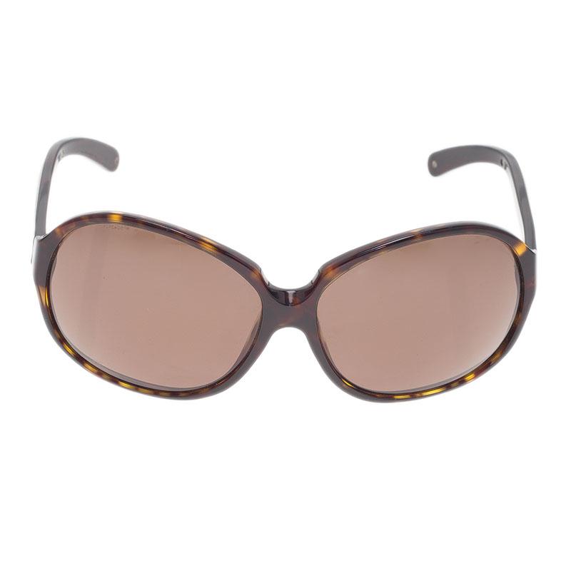Prada Tortoise Frame SPR21 Oversized Sunglasses