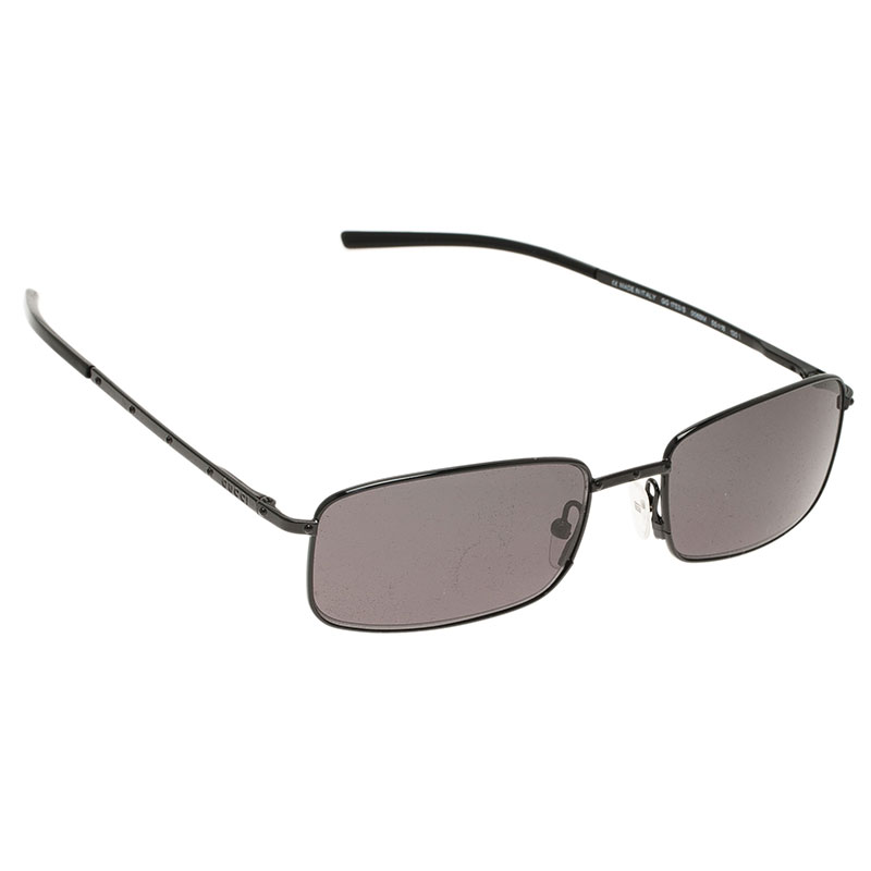 Gucci Black GG 1753 Rectangle Sunglasses