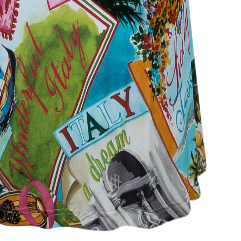 Dolce and Gabbana Multi-print Bustier Dress S