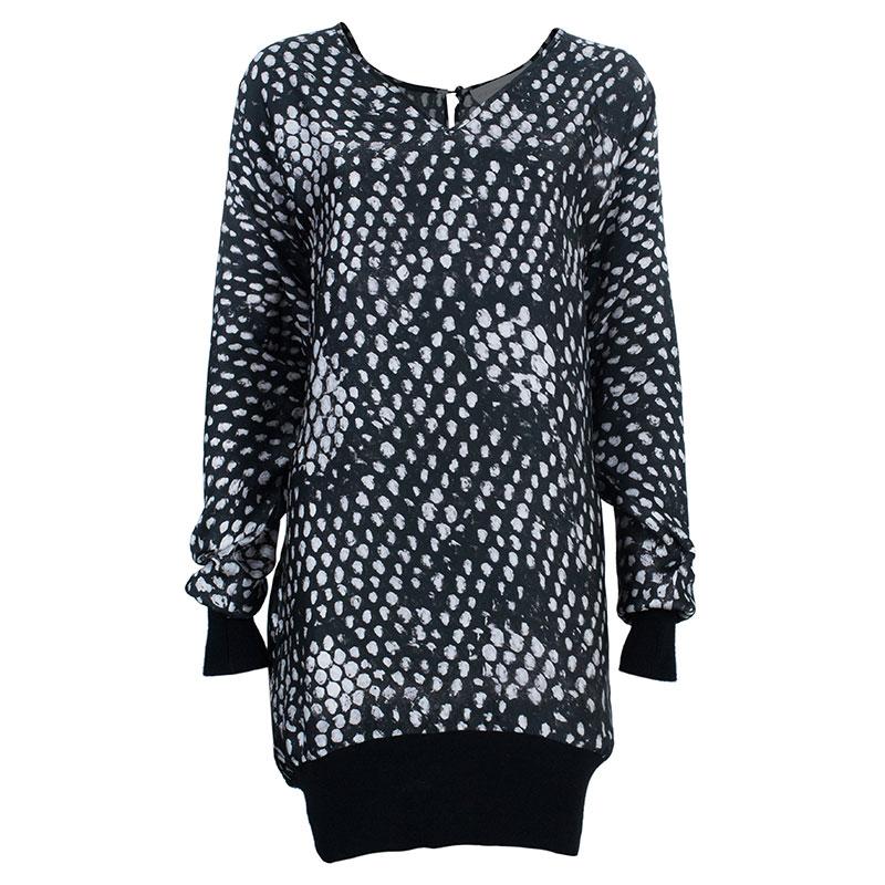 Stella McCartney Black Dotted Dress S