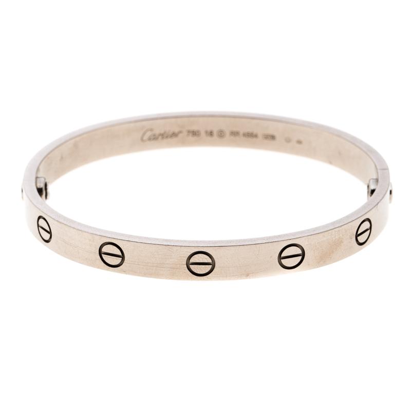 Купить со скидкой Cartier Love 18k White Gold Bracelet 16