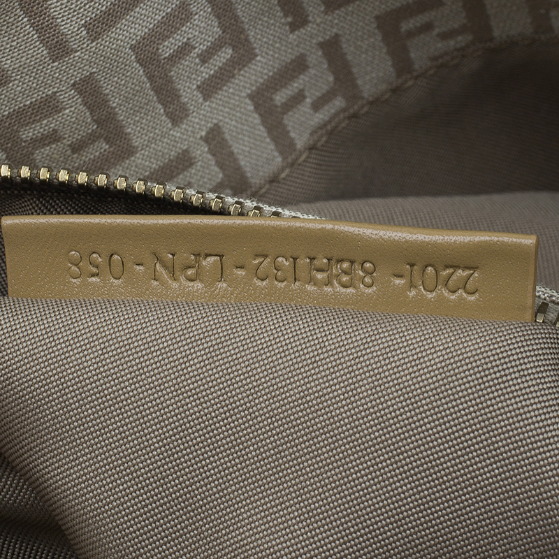 Fendi Beige Zucchino Small Tote Bag