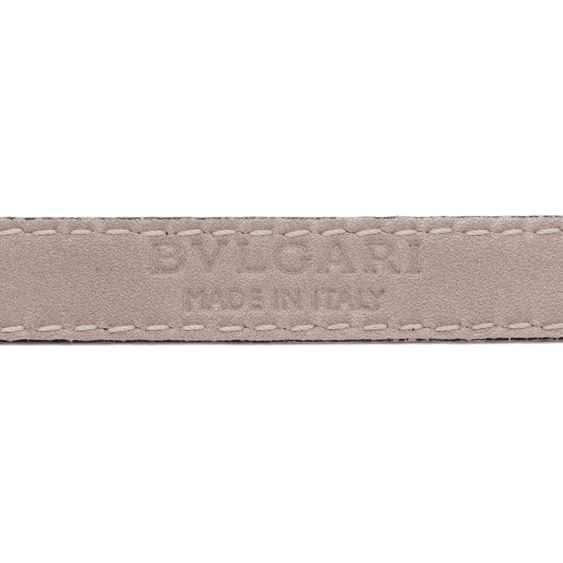 Bvlgari Serpenti Double Coiled Green Leather Bracelet