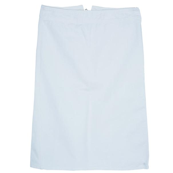 Gucci White Denim Tie-up Back Detail Skirt M