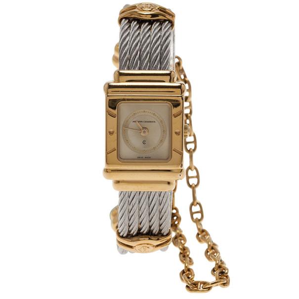 Philippe Charriol Silver Stainless Steel Celtica Women's Wristwatch 20MM