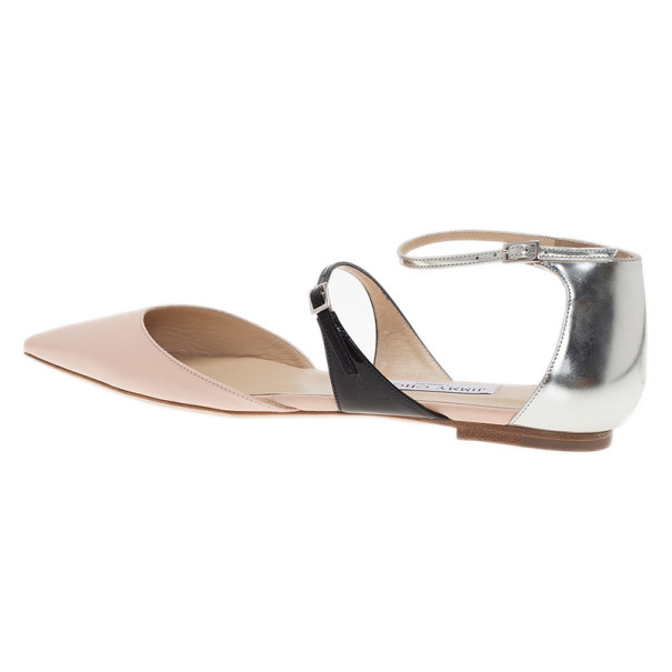 Jimmy Choo Tri Color Terry Flat Sandals Size 39.5