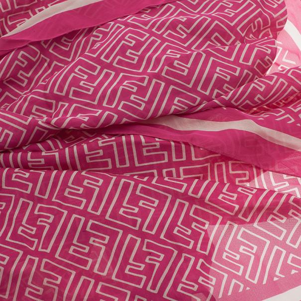Fendi Pink Zucca Stole