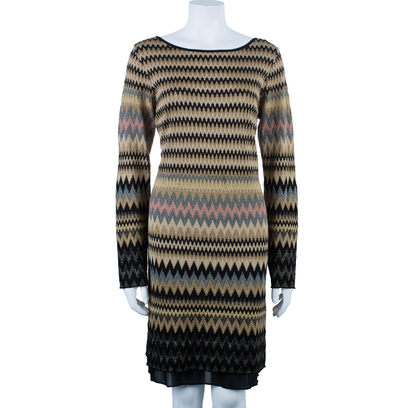 M Missoni Backless Zig-Zag Dress L