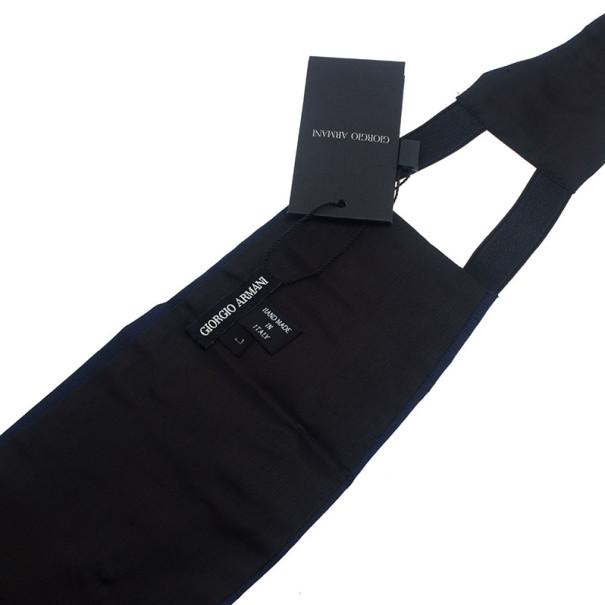 Giorgio Armani Blue Silk Cummerbund Size L