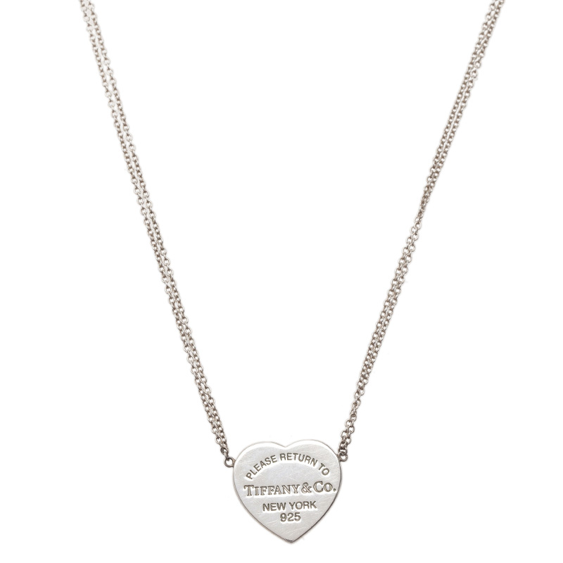 Tiffany & Co. Return To Tiffany Silver Heart Pendant Necklace
