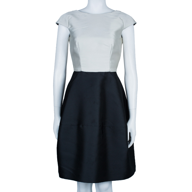 CH Carolina Herrera Monochrome Sheath Dress S