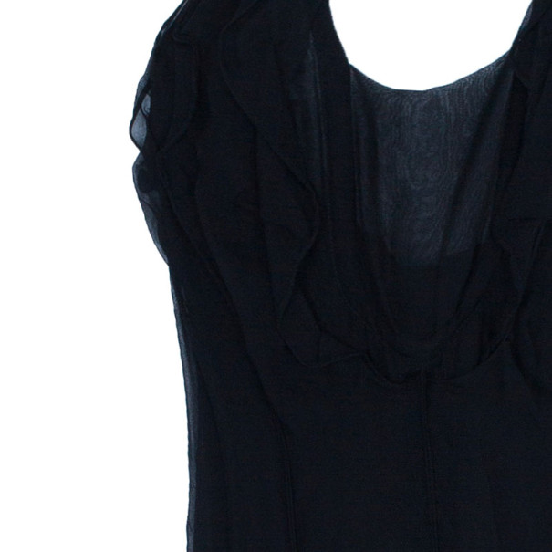 Saint Laurent Paris Rive Gauche Black Halterneck Dress S