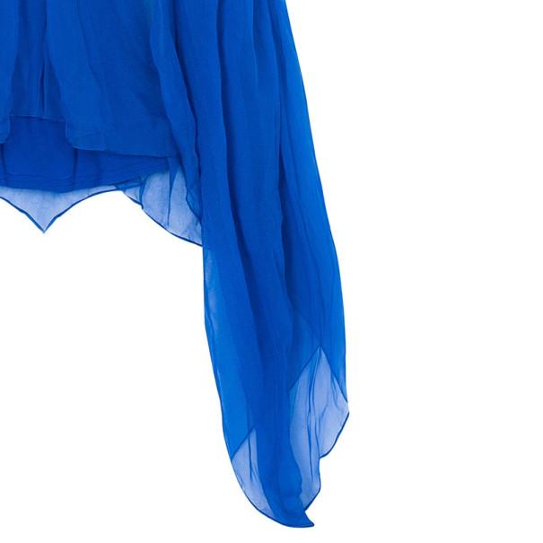 Gucci Blue Embellished Long Kaftan S