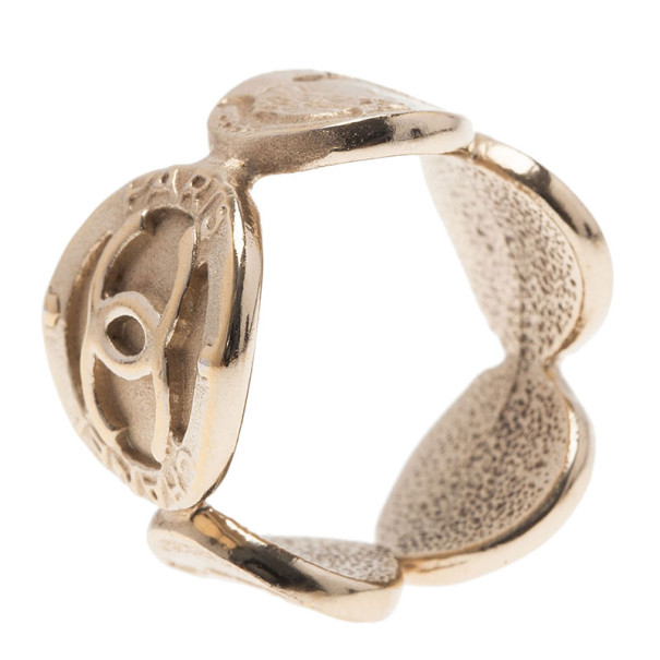 Chanel Madame Coco Gold-Plated Ring Size 54