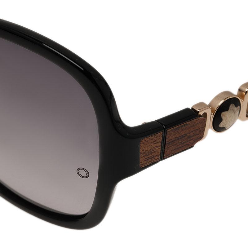 Montblanc Black 420S Square Sunglasses