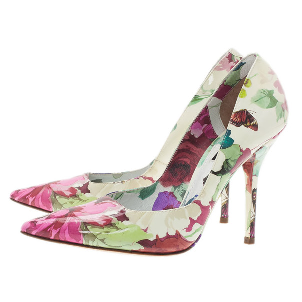 Dolce and Gabbana Floral Print Pumps Size 37